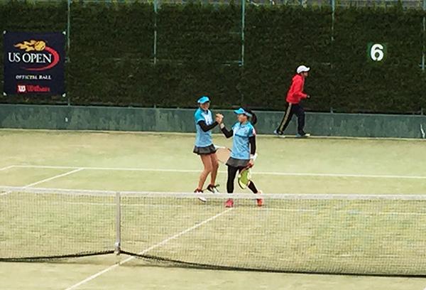 テニス大会3回戦 女子も突破